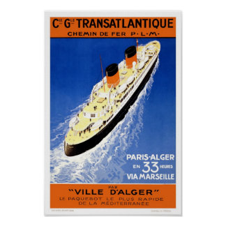 French cruise poster
