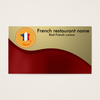 French cuisine business card