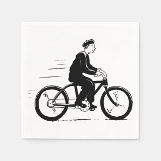 French Cyclist Paper Napkins