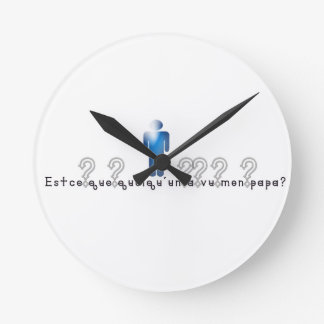 French-Daddy Round Clock