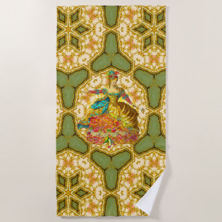 French Danse Elegance Beach Towel
