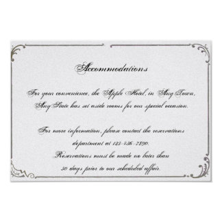 French Deco Frame Posh Wedding Insert Card