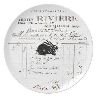 French decor melamine plate - Rabbit