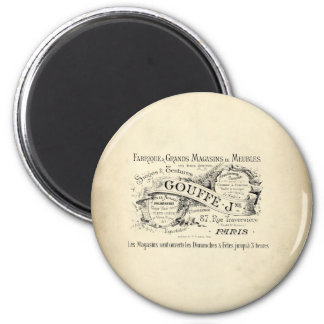 French Department Store Sign 2 Inch Round Magnet