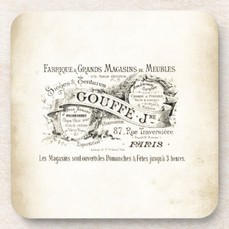 French Department Store Sign Beverage Coasters