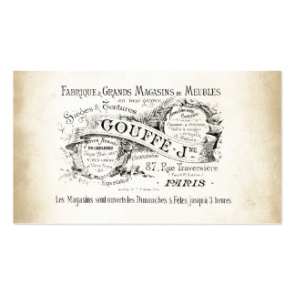 French Department Store Sign Pack Of Standard Business Cards