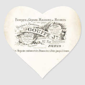 French Department Store Sign Heart Sticker