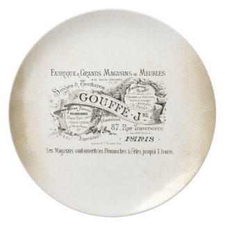 French Department Store Sign Party Plates
