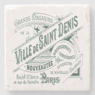 French Department Store Vintage Advertisement Stone Coaster
