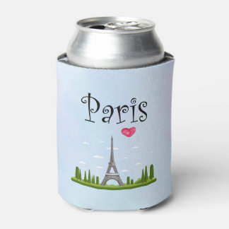 French Design - Eiffel Tower in Paris Can Cooler