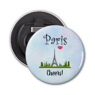 French Design - Eiffel Tower in Paris Cheers! Bottle Opener