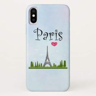 French Design - Eiffel Tower in Paris iPhone X Case