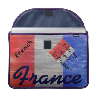 French Distressed Flag - France MacBook Pro Sleeves