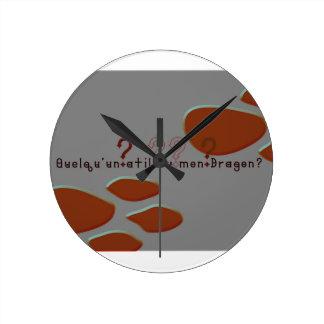 French-Dragon Round Clock