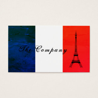 French Eiffel Tower Flag, France Business Card