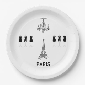 French Eiffel Tower Paris Theme Party Paper Plates