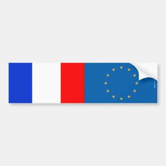 French & European Union Flags Bumper Sticker