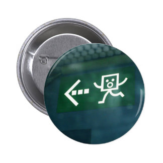 French Exit Sign 2 Inch Round Button