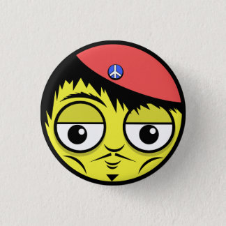 French Face 1 Inch Round Button