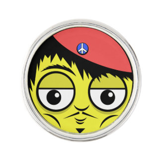 French Face Lapel Pin