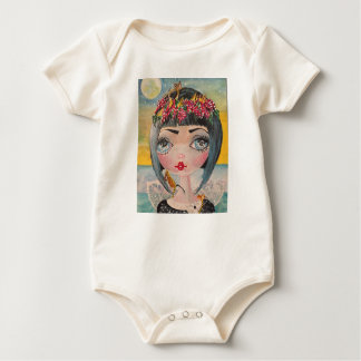 French Fairy Cheese Fairy Baby Bodysuit