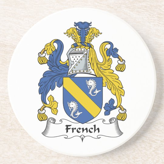French Family Crest Coaster