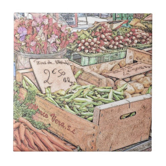 French Farmers Market Tile
