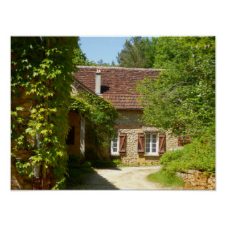 French Farmhouse and Gite Poster