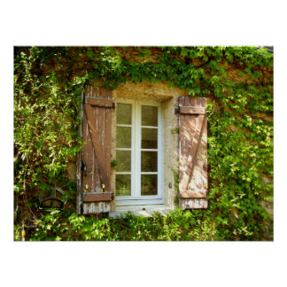 French Farmhouse Window & Shutters Poster