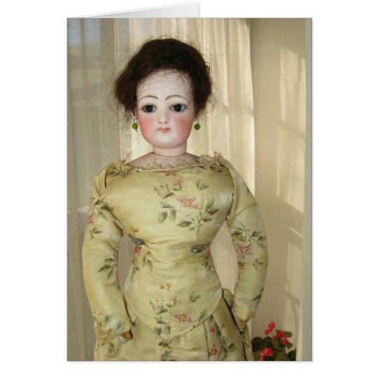 French Fashion Doll Greeting Card - Blank