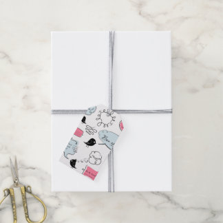 French Fashion Style Speech Bubbles Gift Tags