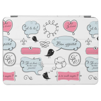 French Fashion Style Speech Bubbles iPad Air Cover