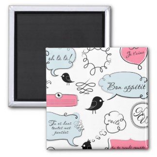 French Fashion Style Speech Bubbles Magnet