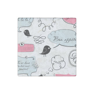 French Fashion Style Speech Bubbles Stone Magnets