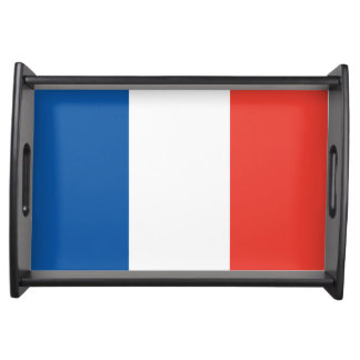 French Flag 14 Juillet Patriotic Serving Tray