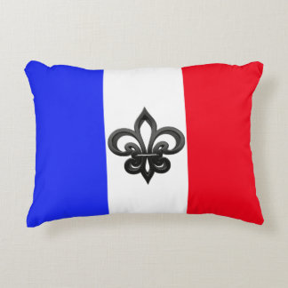 French flag accent pillow