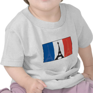 French Flag and Eiffel Tower Tshirt