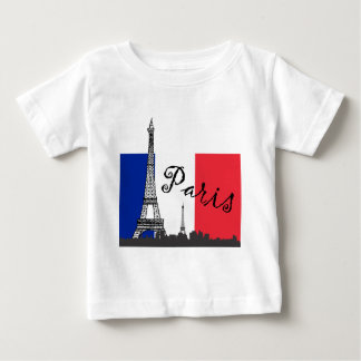 French Flag and the Eiffel Tower T-shirt