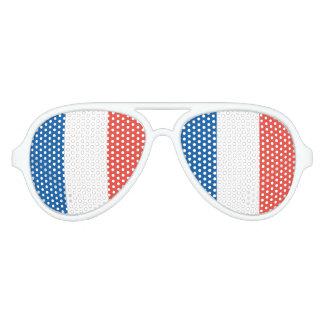 French Flag Aviator Sunglasses