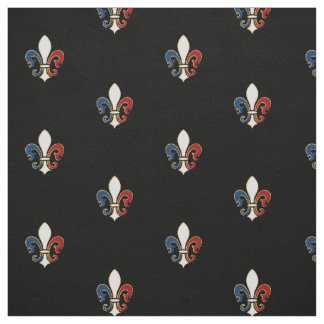 French Flag Colors Fleur de Lis Fabric