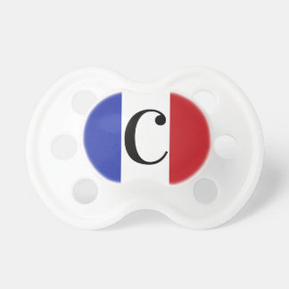 French Flag Colors France Blue White Red Pacifier