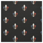 French Flag Colours Fleur de Lis Fabric
