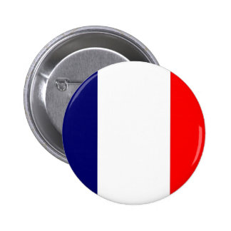 French Flag Design - OUI ! 2 Inch Round Button