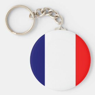French Flag Design - OUI ! Basic Round Button Keychain