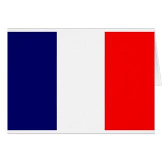 French Flag Design - OUI ! Greeting Card