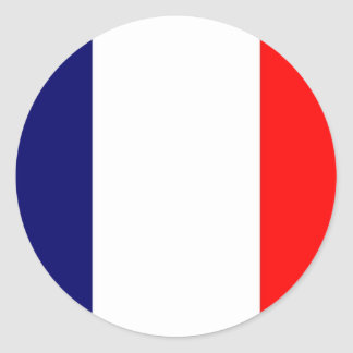 French Flag Design - OUI ! Round Sticker