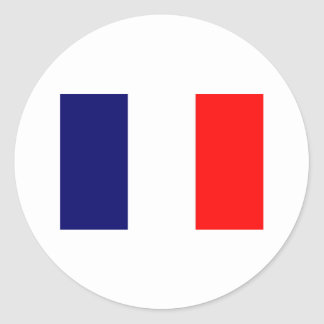 French Flag Design - OUI ! Round Sticker