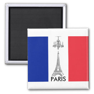 French Flag Eiffel Tower Paris Themed Magnet