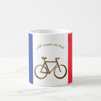 French Flag Golden Bike Bicycle Cycling Cyclist Coffee Mug