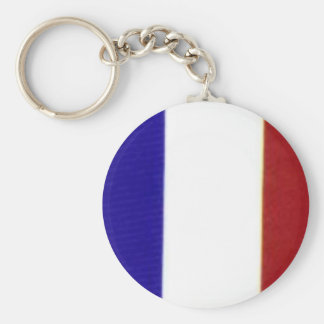French flag keyring basic round button keychain
